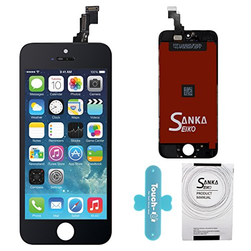 SANKA LCD Touch Screen Digitizer Frame Assembly Full Set Screen Replacement for iPhone 5C (Iphone 5c Replacement Digitizer compare prices)
