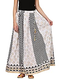Saadgi Rajasthani Hand Block Printed Handcrafted Pure Rayon Lehnga Skirt For Women/Girls - B06XGJ9FDS