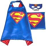 Superman Blue ROXX Superhero Superman Kids Girl And Boy Cape And Mask Costume For Child