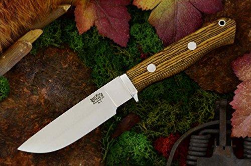 Bark River Gameskeeper II Fixed Blade Knife, Bocote Wood