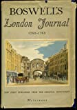 Boswell's London Journal 1762-1763. (0712662057) by Boswell, James