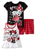 Disney Baby-Girls Infant 3 Piece Minnie Mouse Tank Pullover And Short