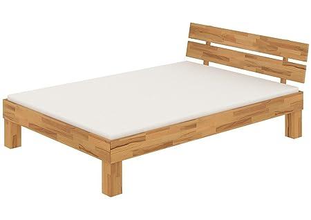 Französisches Bett Futonbett Doppelbett 140x200 Buche massiv Lattenrollrost Matratze 60.86-14 M