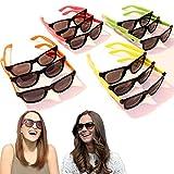 Dazzling Toys 12 Pairs Neon 80's Wayfarer Sunglasses Kids Teen Party Favors