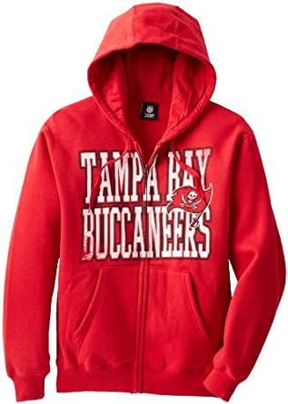 NFL Tampa Bay Buccaneers Touchback V Full Zip Hooded Sweatshirt, Bright Cardinal,... by VF LSG