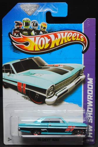2013 Hot Wheels Hw Showroom - '66 Chevy Nova - Teal - 1