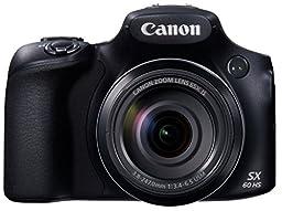 Canon PowerShot SX60 HS Digital Camera - Wi-Fi Enabled - International Version (No Warranty)