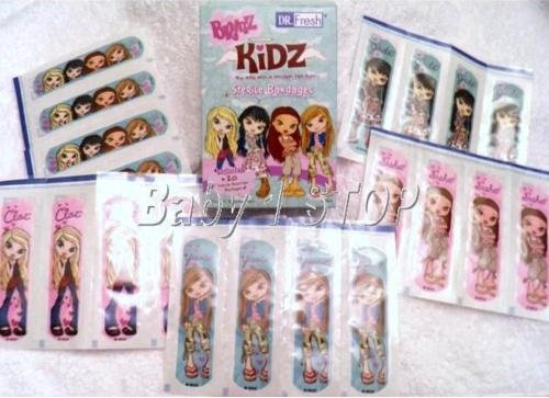 Childrens Kids Bratz Waterproof Plasters 20 Pack