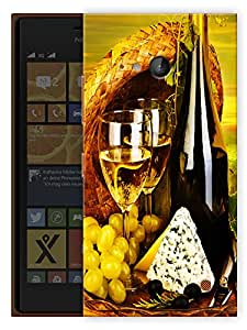 """Humor Gang Wine And Dine Printed Designer Mobile Back Cover For """"Nokia Lumia 730"""" (3D, Matte, Premium Quality Snap On Case)"""