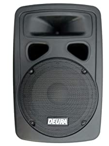 "Deura SBA-10 10"" 1000 Watt Professional Powered DJ/PA/Live Sound Speaker With Bass and Treble Tone Control"