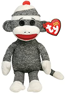 Ty Beanie Baby Socks - Grey Monkey at 'Sock Monkeys'