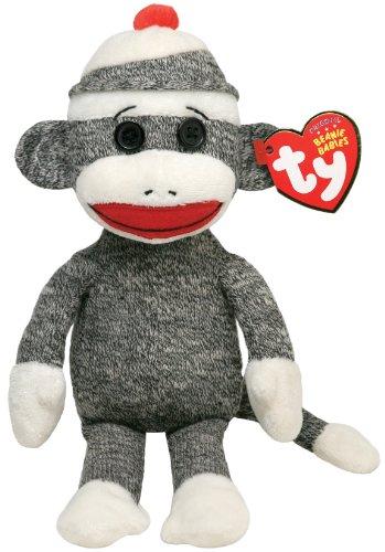 Ty Beanie Baby Socks - Grey Monkey at 'Sock Monkeys'