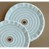 "2 PC 8"" X 5/8"" Ply Soft Cotton Bench Grinder Buffing Wheels (8BUFF088(2pc)"