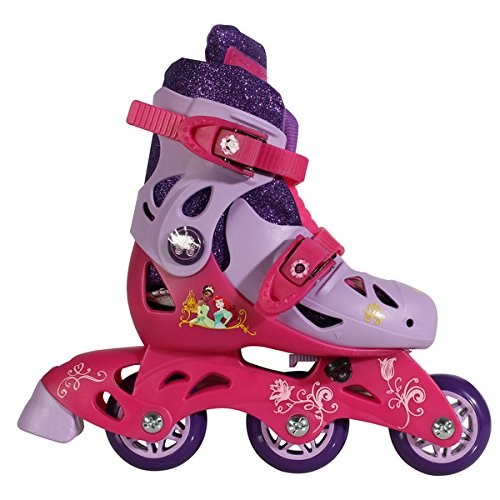 Playwheels Princess Pink Stainless Steel Junior Size 6-9 Convertible 2-in-1 Kids Skates (Chicago Roller Blades compare prices)