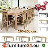 Tisch Küchentisch Esszimmertisch Esstisch WENUS ausziehbar 300 cm !!! Sonoma