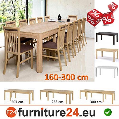 Tisch-Kchentisch-Esszimmertisch-Esstisch-WENUS-ausziehbar-300-cm-Sonoma-Eiche