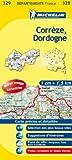echange, troc Collectif Michelin - Carte DÉPARTEMENTS Corrèze, Dordogne, N°329