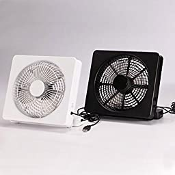 Bangcool Novel Quite Battery USB Powered Brushless Motor Office Mini Fan(White)