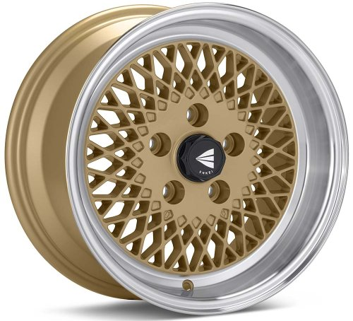 15x7 Enkei ENKEI92 (Gold w/ Machined Lip) Wheels/Rims 4x114.3 (465-570-4838GG)