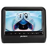 Pumpkin 9インチ ヘッドレスト DVDプレーヤーモニター ゲーム USB/SD/FM/IRトランスミッター 800x480 高画質 (1個)
