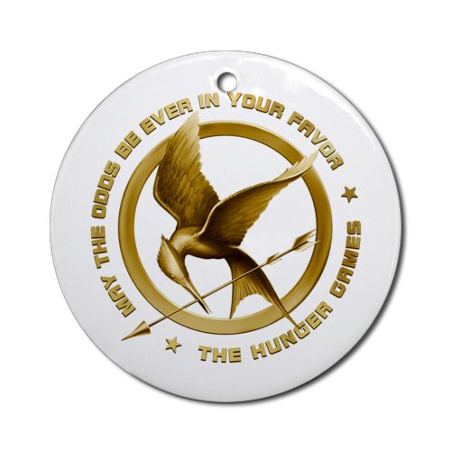 Hunger Games Mockingjay old Ornament Round Round Ornament by CafePress