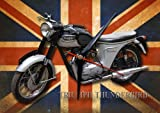 TRIUMPH THUNDERBIRD MOTORCYCLE METAL CLOCK