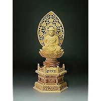 仏像 桧 座釈迦 六角台座3.0寸(ひのき ざしゃか ろっかくだいざ)