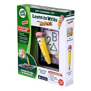 LeapFrog Learn to Write with Mr. Pencil Stylus & Writing App (works with iPhone 4/4s/5, iPod touch 4G & iPad)