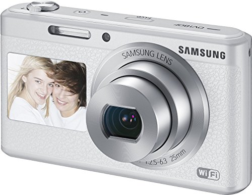 Samsung DV180F 16MP 5x Optical Zoom Smart Camera (White) EC-DV180FBPWE1 – International Version (No Warranty)