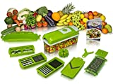 Nicer Dicer Plus Multi Chopper Vegetable Cutter Fruit Slicer,Works as Grater, Cutter, Peeler, Slicer, Chopper, Dicer & Zester