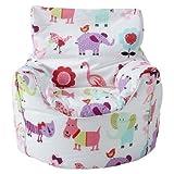 Ready Steady Bed Kinder Sitzsack Sessel Niedliche Tiere Design Fertig