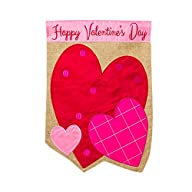 Happy Valentines Day Hearts Burlap Ga…