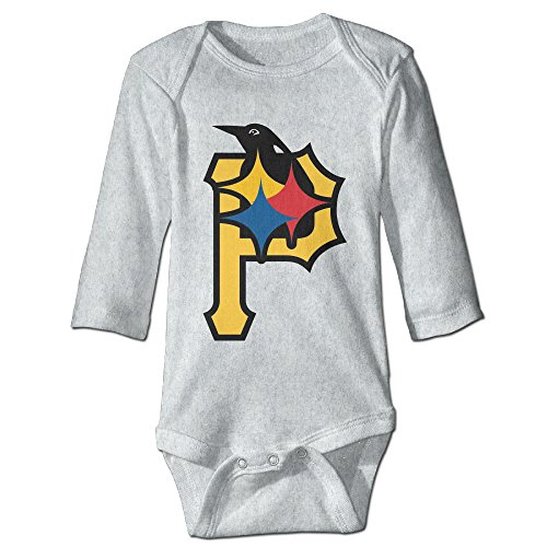 Steelers Baby Clothes Stunning HYRONE Pittsburgh P Logo Steelers Baby Bodysuit Long Sleeve Climbing