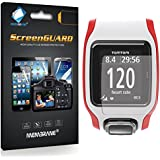 6 x Membrane Screen Protectors for TomTom Multi-Sport GPS Watch - Crystal Clear (Glossy), Retail Package, Installation Kit
