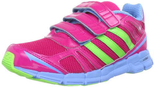 Adidas Performance adifast CF K Running Shoes Unisex-Child Pink Pink (BLAST PINK F13 / RAY GREEN F13 / JOY BLUE S13) Size: 40
