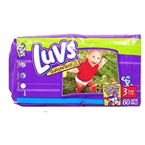 Luvs Mega Pack Size 3 60-Count (Pack of 2)