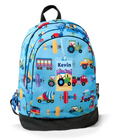 Olive Kids Trains, Planes, and Trucks Backpack- Free Name Tag!