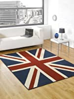 """Buckingham Great Britain Flag Union Jack Design Blue Red White Rug 120 x 160 cm (4' x 5'3"""") Carpet by Lord of Rugs"""