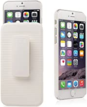 iXCC ® Ascend Series [Kickstand] Slim Hard PC Shell [Heavy Duty] Full Body Protection Slidable Cover Case [ Anti drop, Anti scratch, Anti slip, Anti shock ] with Kick-Stand Feature for Hands-Free Video Watching and Holster clip swivel for iPhone 6 (4.7-inch) [White]