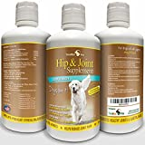 Best Hip and Joint Supplement for Dogs ★ Liquid Glucosamine with Chondroitin MSM and Hyaluronic Acid ★ Extra Strength ★ Safe Natural Arthritis Pain Relief ★ Made in USA ★ 32oz ★ Satisfaction Guaranteed