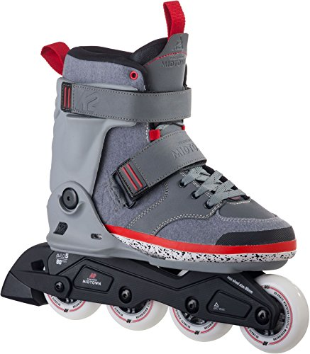 k2-midtown-patines-en-linea-negro-gris-rojo-80-mm-415-eu-varios-colores-noir-gris-rouge-talla415-eu