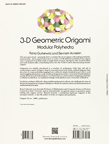 libro 3 d geometric origami modular polyhedra di rona. Black Bedroom Furniture Sets. Home Design Ideas