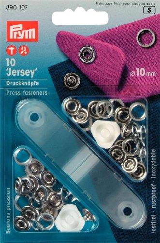 Prym Boutons-press. Jersey 10mm anneau laiton argenté + outil
