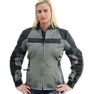 Amazon.com: Xelement All Season Womens Grey/Black Tri-Tex/Mesh Jacket