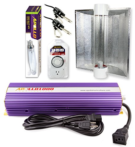Apollo Horticulture GLK1000CTAC1HPS 1000 Watt Grow Light Digital Dimmable HPS MH System for Plants Air Cool Tube Hood Set (Cool Tube Grow Light 1000 compare prices)