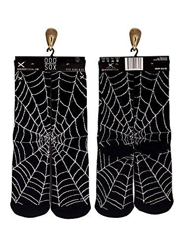 Odd Sox Spiderweb Socks, Fits Sizes 6-13