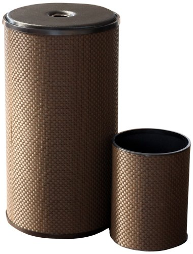 Lamont Home Basketweave Hamper/Wastebasket Set, Chocolate lamont dozier brighton