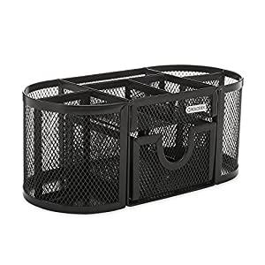 Rolodex Mesh Collection Oval Supply Caddy, Black (1746466) (2, A)