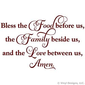 Amazoncom bless the food before us family love quote for Bless home furniture outlet