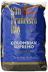 San Francisco Bay Coffee Whole Bean, Colombian Supremo, 32 Ounce